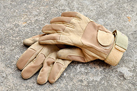 Leather Palm Protective Work Gloves